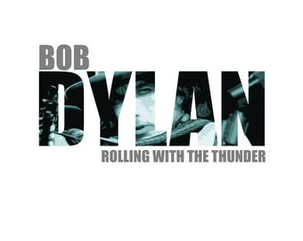 T-SHIRT: Bob Dylan / Rolling Thunder - Classic T-Shirt & Ladies Fitted Tee - (LazyCarrot)