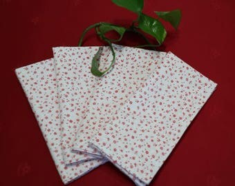 White Everyday Cloth Napkins Set of 4.