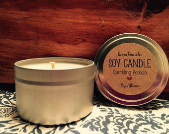 Soy Wax Candle - Sparkling Pomelo - Grapefruit
