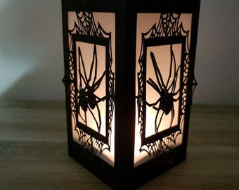 Candle spider for Halloween
