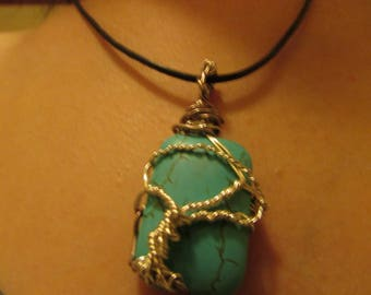 Tree of life wrapped Turquoise