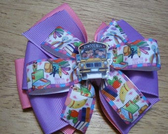 Back to school hairbow ,