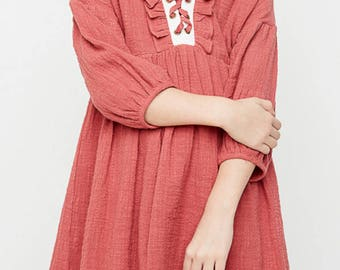 Dusty rose dress big girls