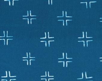 Fabric-Quilting Cotton-Trellis in Navy - Cloud9 Fabrics