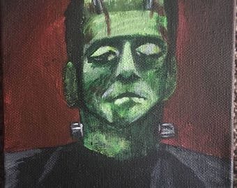 Small Frankenstein Painting