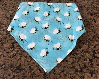 Bumble Bee Print Dog Bandana