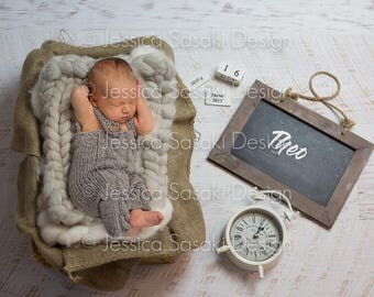Digital background Newborn composing, instant download