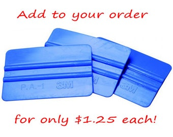 NOT AVAILABLE SEPARATELY - Must be ordered with a decal - Blue Decal Applicator Squeegee
