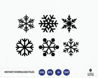Snowflake svg. Snowflakes clipart. Snowflake cut files digital download svg, eps,png, dxf. Snow flakes silhouette and cricut cut files