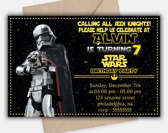 Star Wars invitation/ Star Wars birthday invitation/ Star Wars party invitation/ Star Wars Birthday/ Star Wars Party/ Star Wars Invite