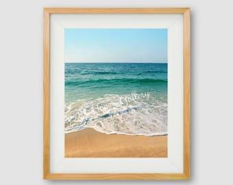 Beach PRINTABLE, Beach Printable, Ocean Wall Art, Beach Print, Waves Print, INSTANT DOWNLOAD, Beach Photography, Beach Photograph, Surf Art