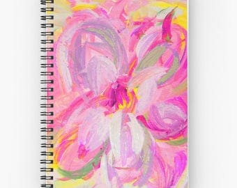 Floral Journal, Pink Notebook Spiral