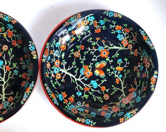Vintage Daher Bowls - Butterflies and Flowers