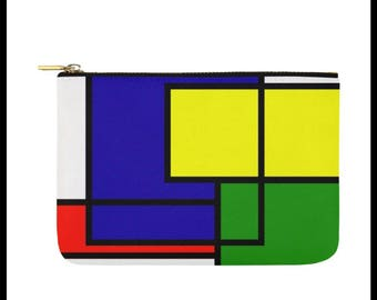 That's So Primary Color Block Makeup Pouch