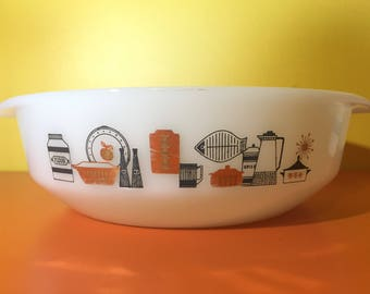 Retro Crown Pyrex Bowl