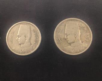 2 coins for king farouK