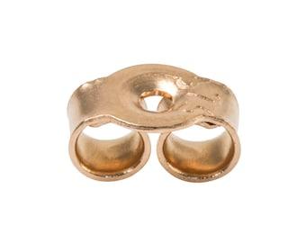 9ct Rose Gold Earring Backs | Push Backs | Butterflies | Scroll Backs | Approx. Measurements 5mm x 3mm | Fine Jewellery | PACK OF 6 | SIEFF