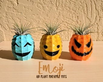 Emoji Air Plant Holders, Emoji Collection, Emoticons, Happy, Squee, Evil Faces, Mood Collection, Gifts For Her, Emoji Invitations, Emoji