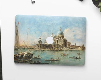 "Francesco Guardi ""Venice: The Punta della Dogana"". Macbook 15 skin, Macbook 13 skin Pro Air, Macbook 12 skin. Macbook decal Macbook Art skin"