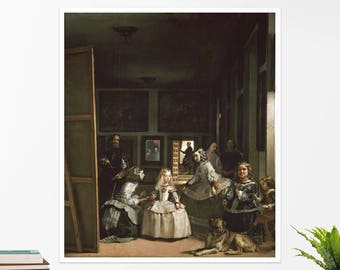 "Diego Velázquez, ""Las Meninas"".  Art poster, art print, rolled canvas, art canvas, wall art, wall decor"