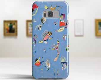 "Wassily Kandinsky, ""Sky Blue"". Samsung S8 Case, Samsung S7 Case, Samsung S6 Case, Huawei, LG, Google Pixel Cases. Art phone cases."