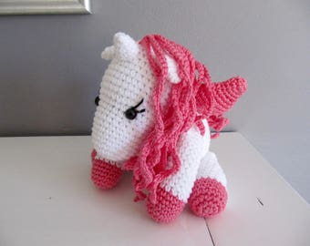 all cotton white and pink Unicorn