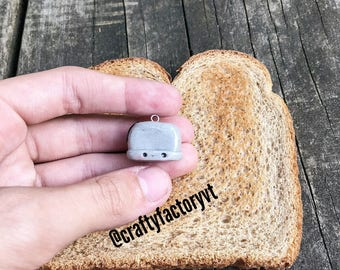 Polymer Clay Silver Toaster