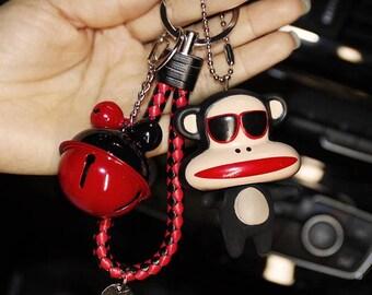 Keychain, key ring , bell keychains, monkey keychain