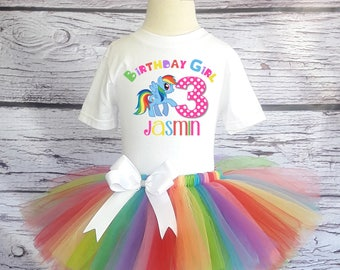 My Little Pony Tutu Outfit My Little Pony Birthday Tutu Pinkie Pie Tutu My Little Pony Shirt Birthday Tutu Set Rainbow Dash Tutu Outfit