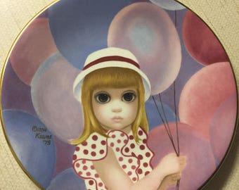Balloon girl Margaret Keane collector plate