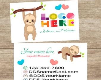 Sloth Business Card, personalized, printable, custom, DotDotSmile