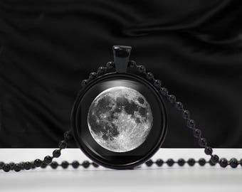 Moon Necklace - Full Moon - Moon Pendant Full - Full Moon Pendant
