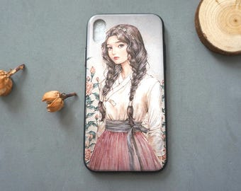 Oil Painting Style iPhone X case, iPhone x case, iPhone x cover, Cute iPhone x case, Girly iphone x case