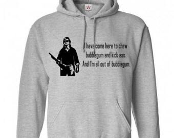 They Live Chew Gum Kick Ass Unisex Hoodie Pullover Hooded Sweatshirt Many Sizes Colors Custom Horror Halloween Merch Massacre