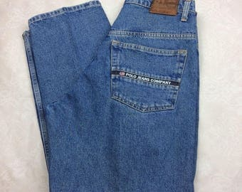 Vintage Ralph Lauren Polo Jeans Company Relaxed Blue Denim Size 32 X 30 -AD4