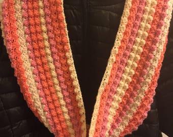 Crochet Infinity Scarf Multicolor
