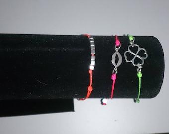 Wire Bracelet orange neon 925 Silver