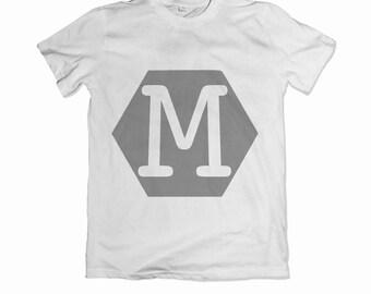Personalised children's hexagon initial T-shirt