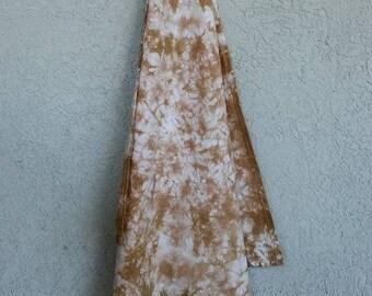Shibori Tie-Dyed Cotton Flour Sack Towel Tan