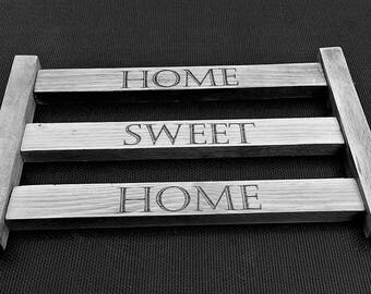 Home sweet home rustic fence sign