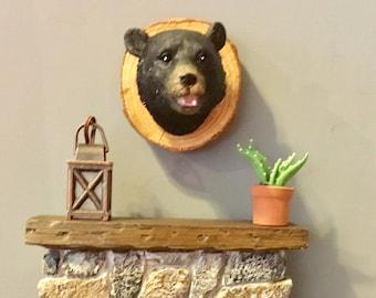 Dollhouse Miniature Mounted Bear Head