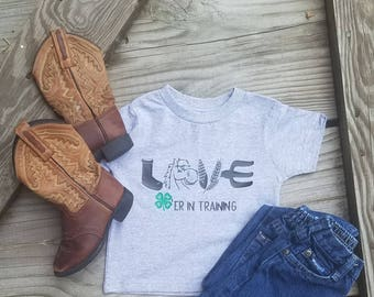 4H Horse Love in trainning toddler Tee