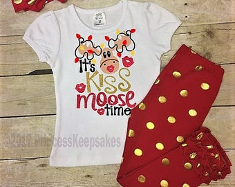 Girls Christmas Outfit, Santa Outfit, Toddler Girls Outfit, Baby Christmas Outfit, Girls Clothing, Girls Christmas Clothing, Kids Christmas