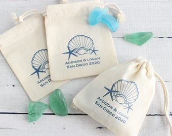 Personalized Wedding Cotton Favor Bags