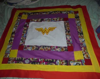 Wonder Woman Inspired Baby Quilt top/ Lap quilt