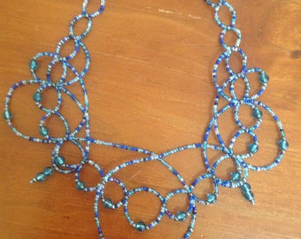 Stunning blue necklace