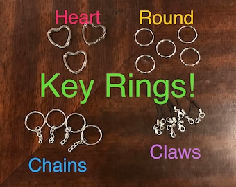 Key Rings and Chains for DIY