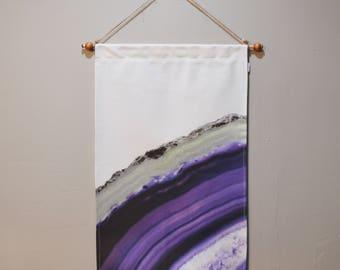 Purple Geode Wall Art A