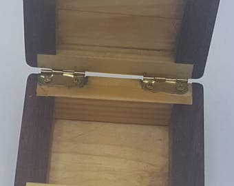 Handmade Pine and Maple Hinged box