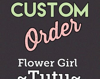 Custom flower girl tutu skirt with accessories